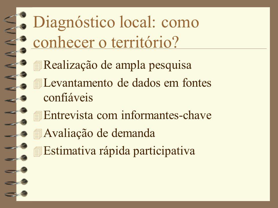 Diagnóstico local: como conhecer o território