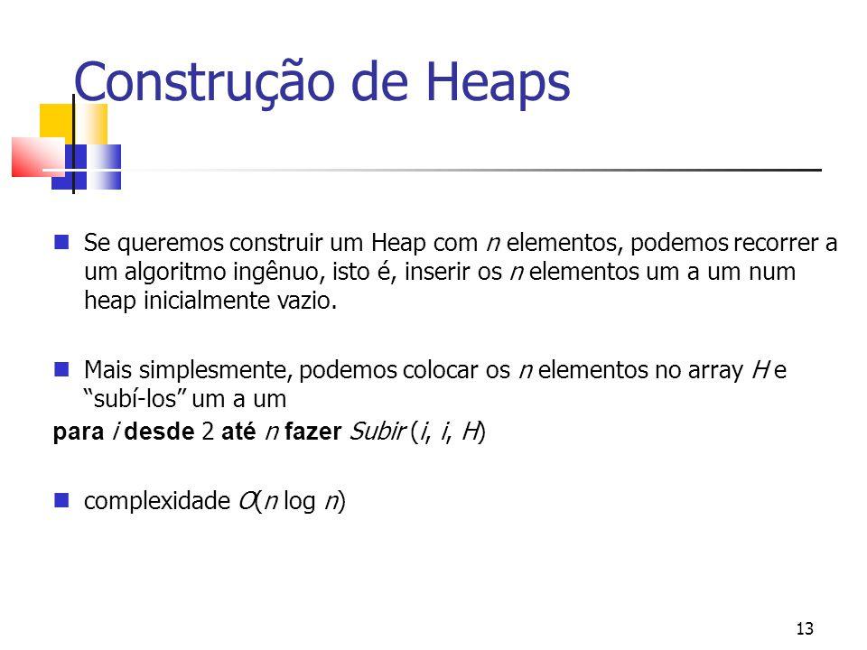 Construção de Heaps