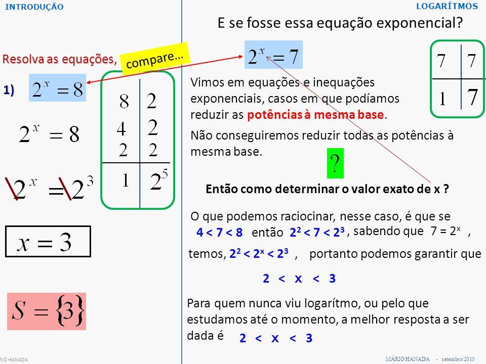 Resolva as equações, em IR: