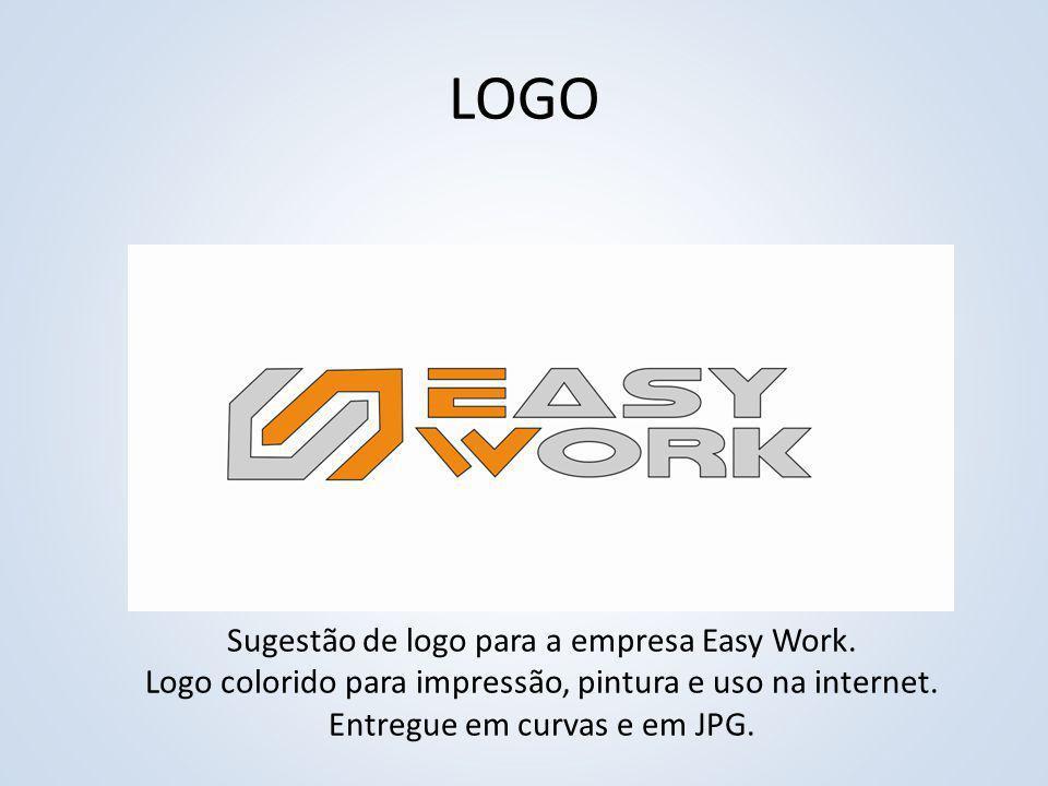 Sugestão de logo para a empresa Easy Work.