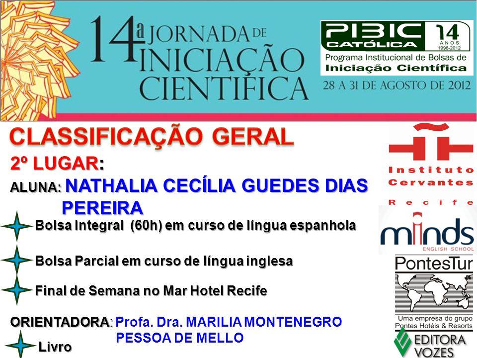 CLASSIFICAÇÃO GERAL 2º LUGAR: PEREIRA