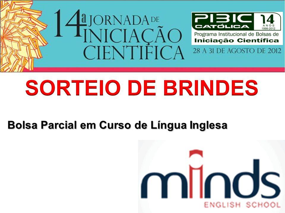 SORTEIO DE BRINDES Bolsa Parcial em Curso de Língua Inglesa