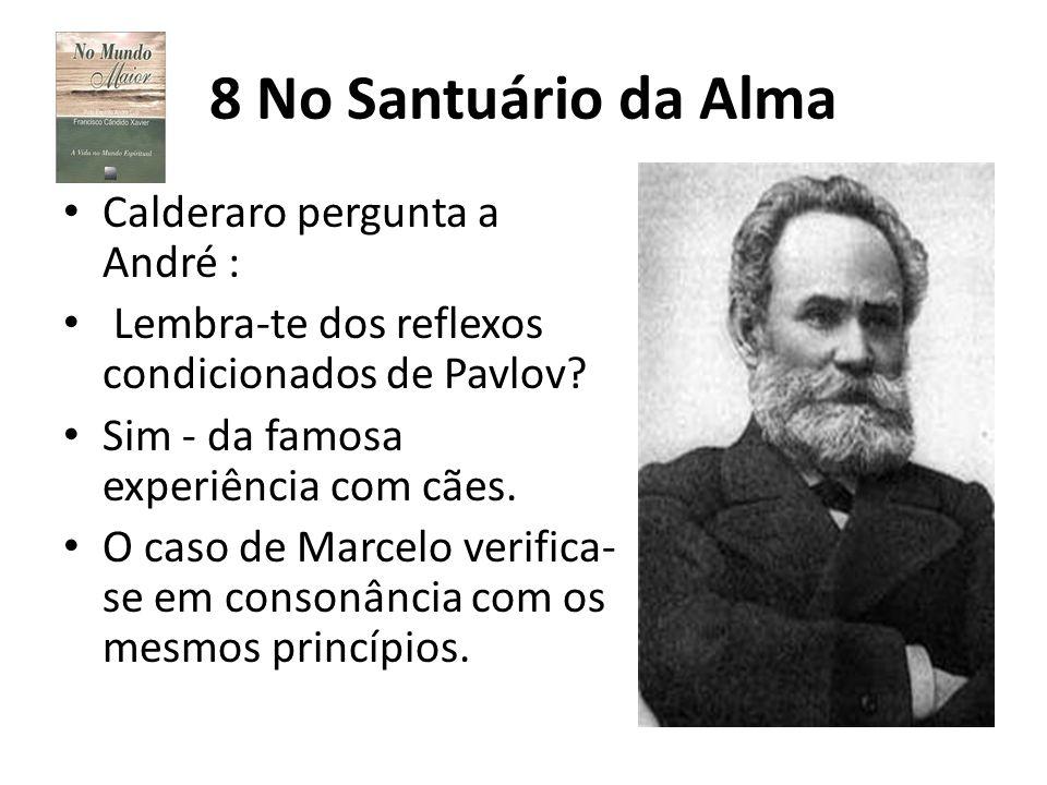 8 No Santuário da Alma Calderaro pergunta a André :