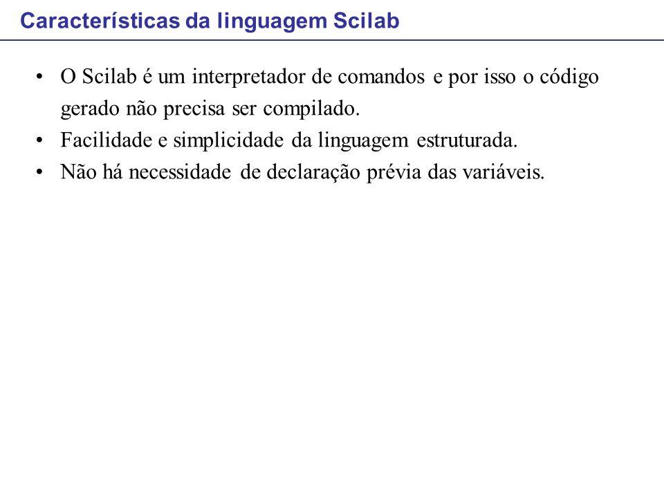 Características da linguagem Scilab