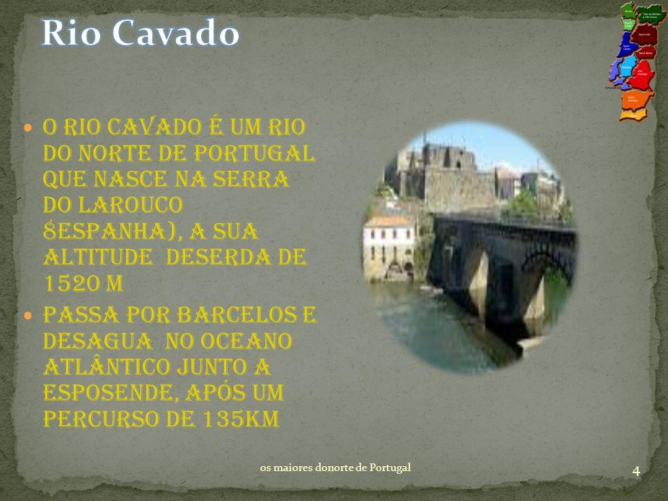 Rio Cavado O rio Cavado é um rio do norte De Portugal que nasce na serra do Larouco 8Espanha), a sua altitude Deserda de 1520 m.