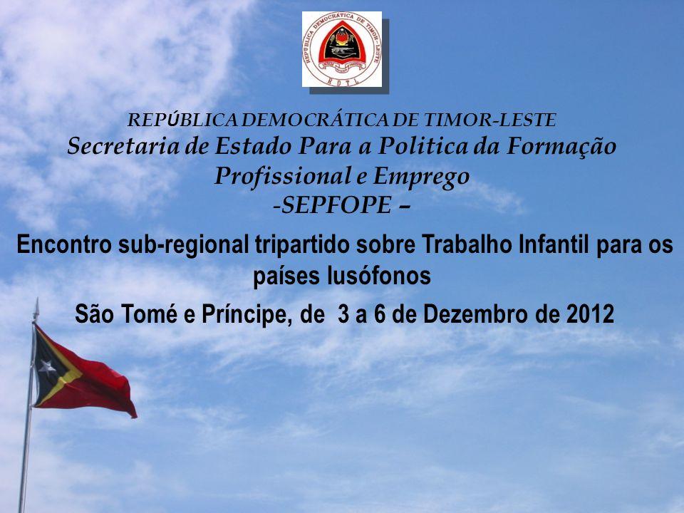São Tomé e Príncipe, de 3 a 6 de Dezembro de 2012