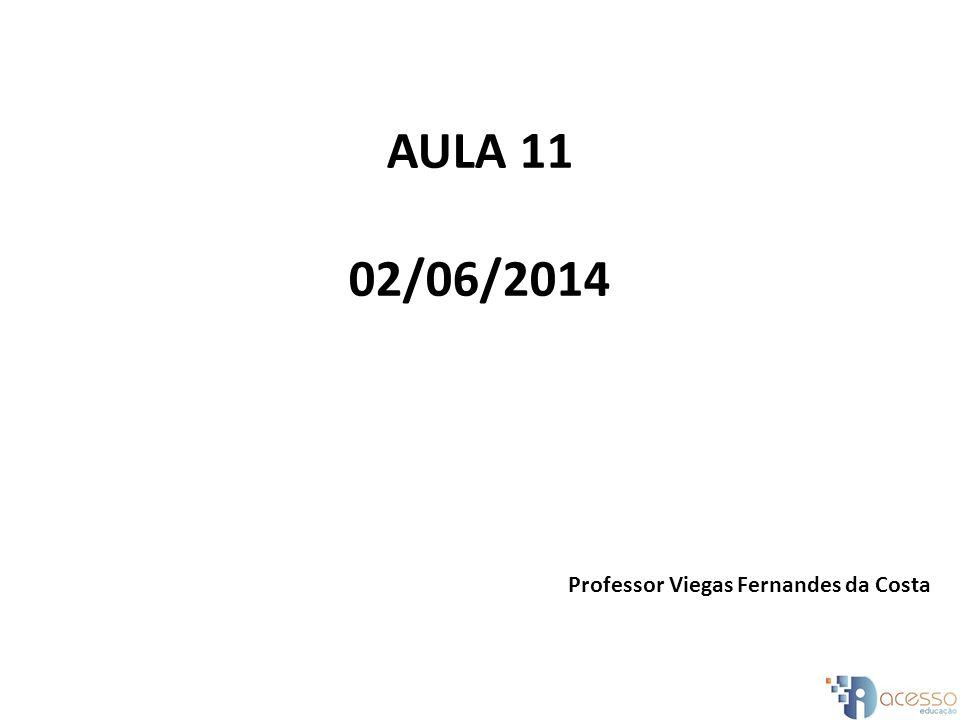 AULA 11 02/06/2014 Professor Viegas Fernandes da Costa