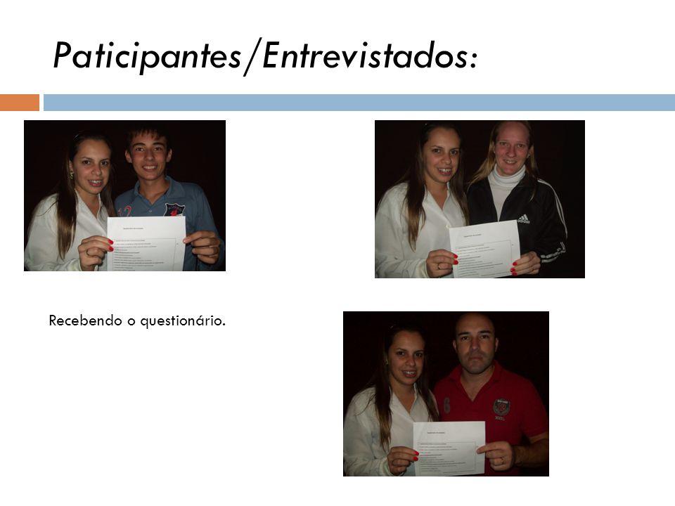 Paticipantes/Entrevistados: