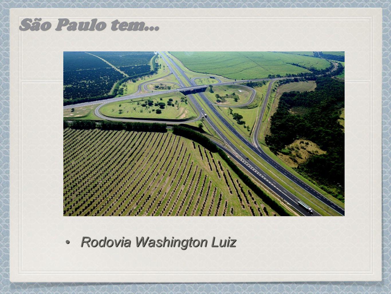 São Paulo tem... Rodovia Washington Luiz