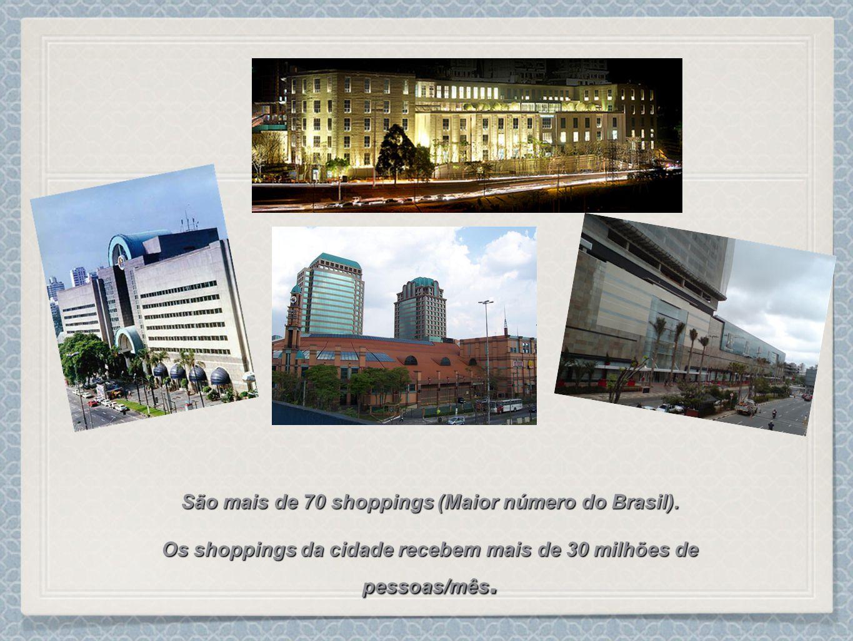 São mais de 70 shoppings (Maior número do Brasil).