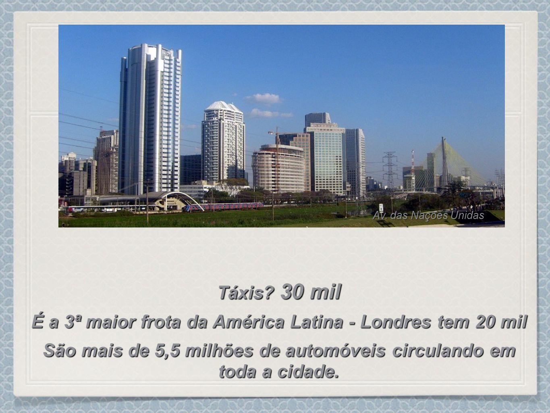 É a 3ª maior frota da América Latina - Londres tem 20 mil