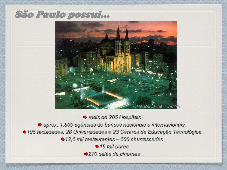 São Paulo possui... mais de 205 Hospitais