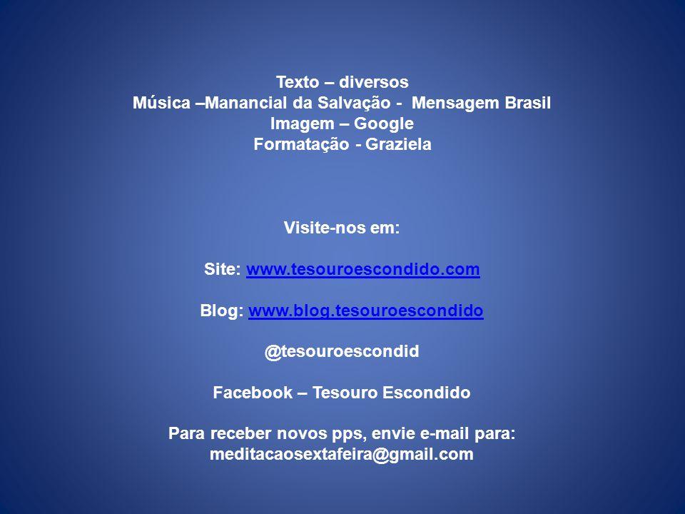 Música –Manancial da Salvação - Mensagem Brasil Imagem – Google