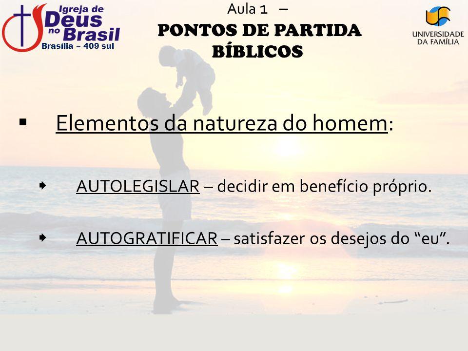 Aula 1 – PONTOS DE PARTIDA BÍBLICOS