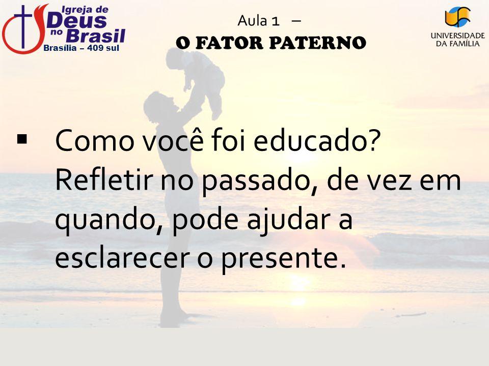 Aula 1 – O FATOR PATERNO Brasília – 409 sul.