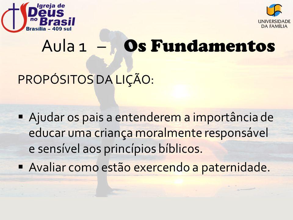Aula 1 – Os Fundamentos PROPÓSITOS DA LIÇÃO: