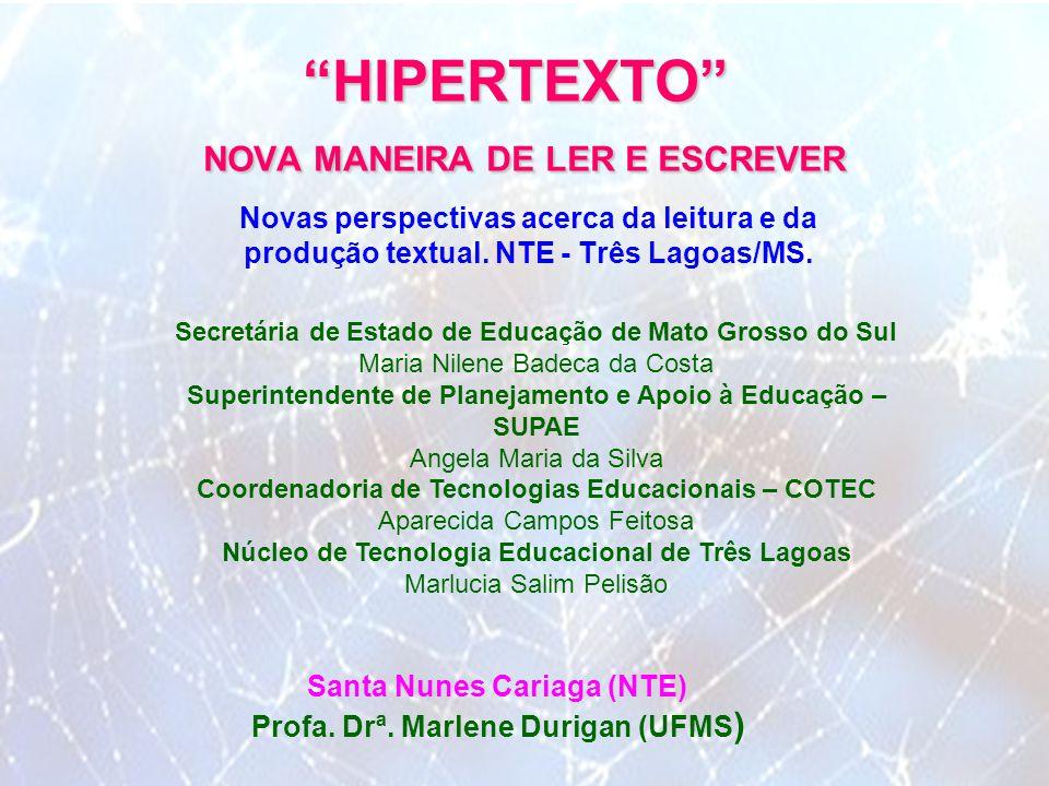 HIPERTEXTO NOVA MANEIRA DE LER E ESCREVER