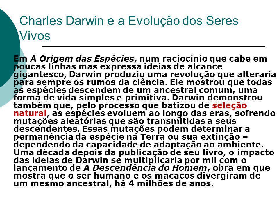 Charles Darwin e a Evolução dos Seres Vivos