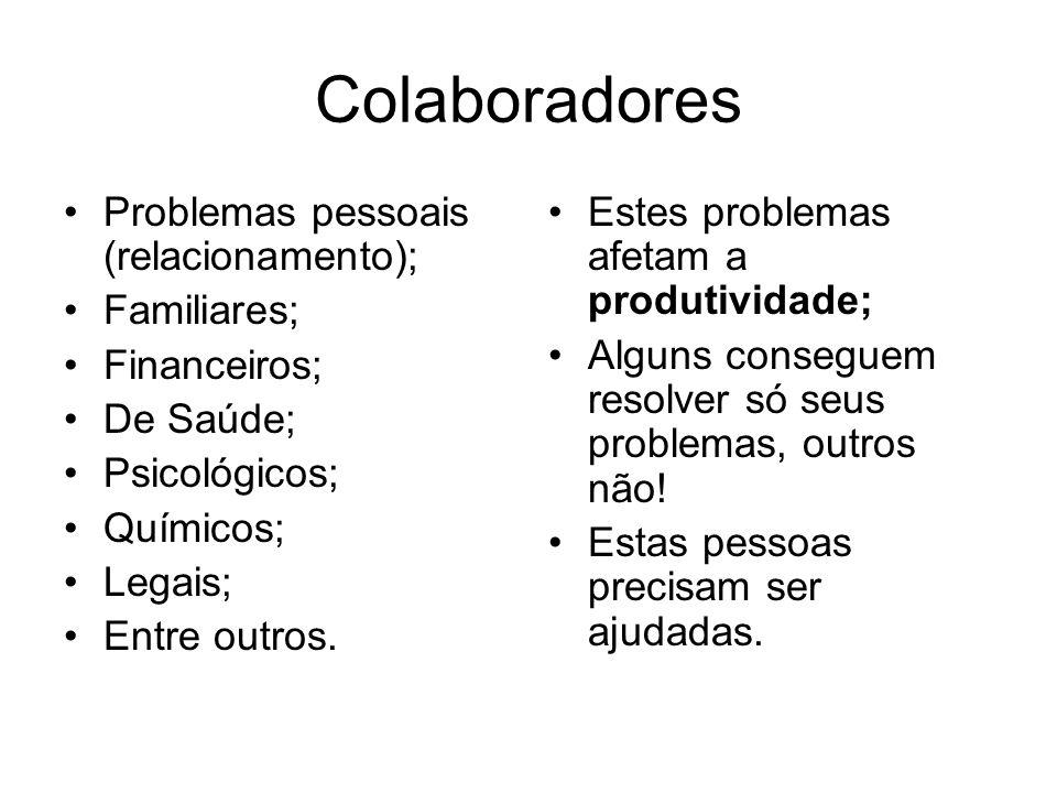 Colaboradores Problemas pessoais (relacionamento); Familiares;