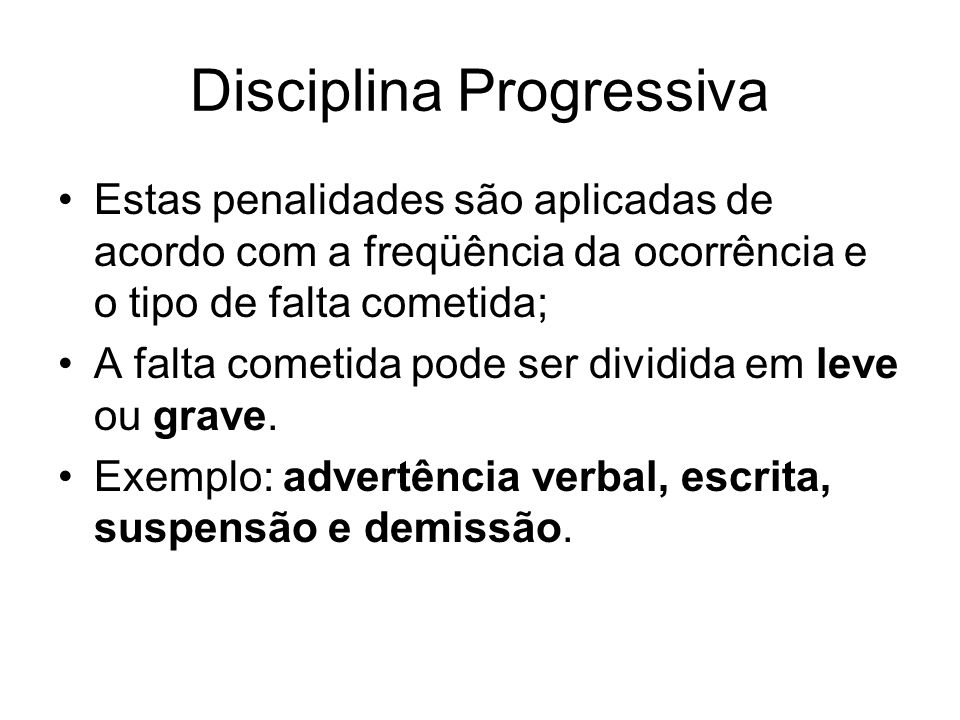 Disciplina Progressiva