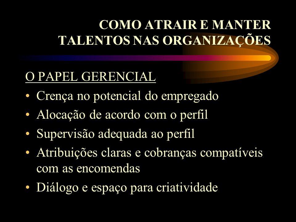 COMO ATRAIR E MANTER TALENTOS NAS ORGANIZAÇÕES