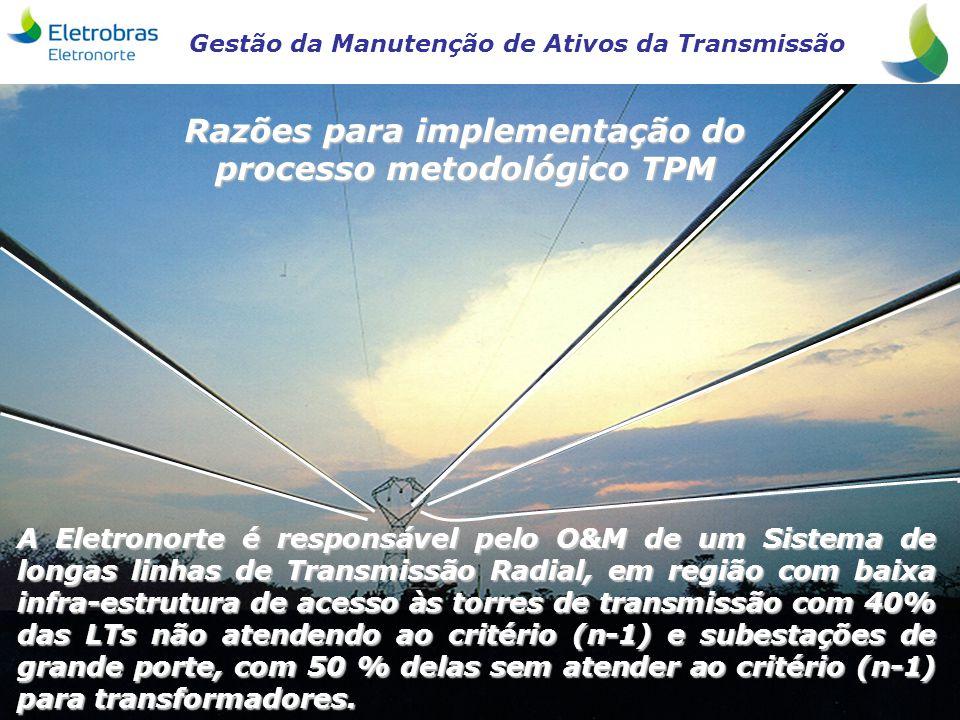 Razões para implementação do processo metodológico TPM