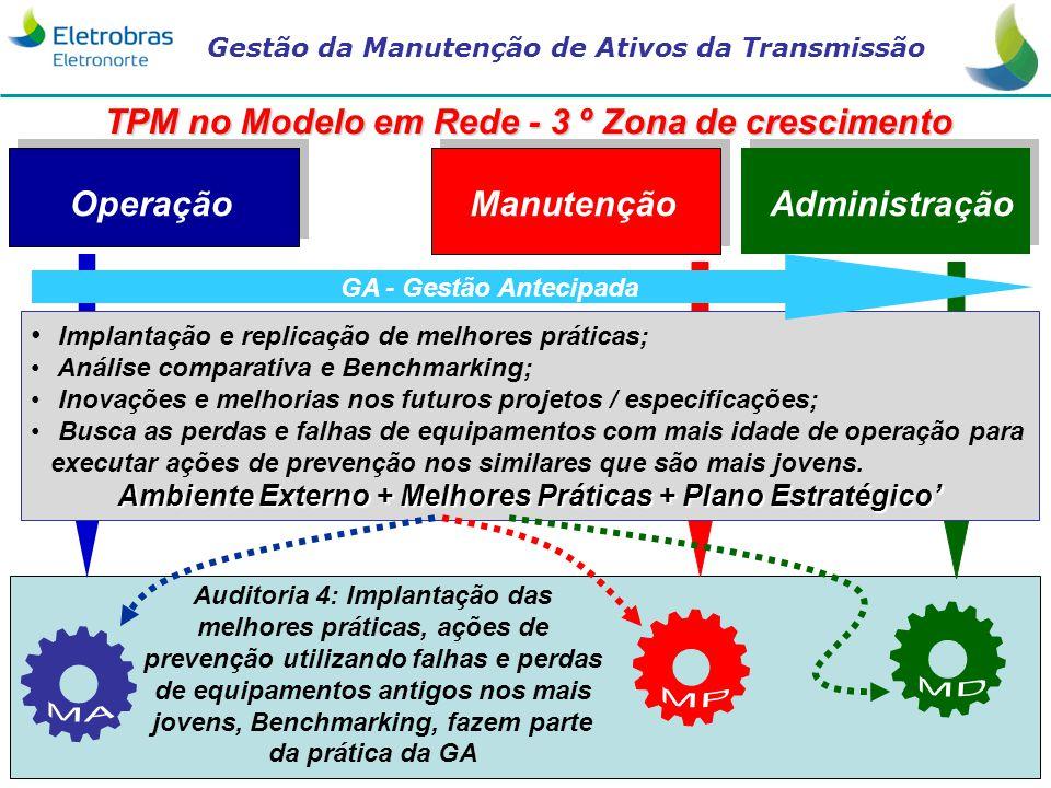TPM no Modelo em Rede - 3 º Zona de crescimento