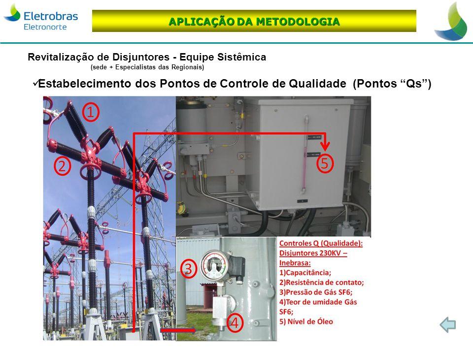 Estabelecimento dos Pontos de Controle de Qualidade (Pontos Qs )