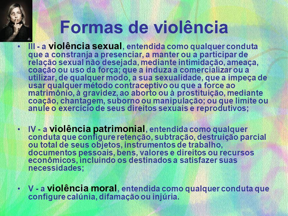 Formas de violência