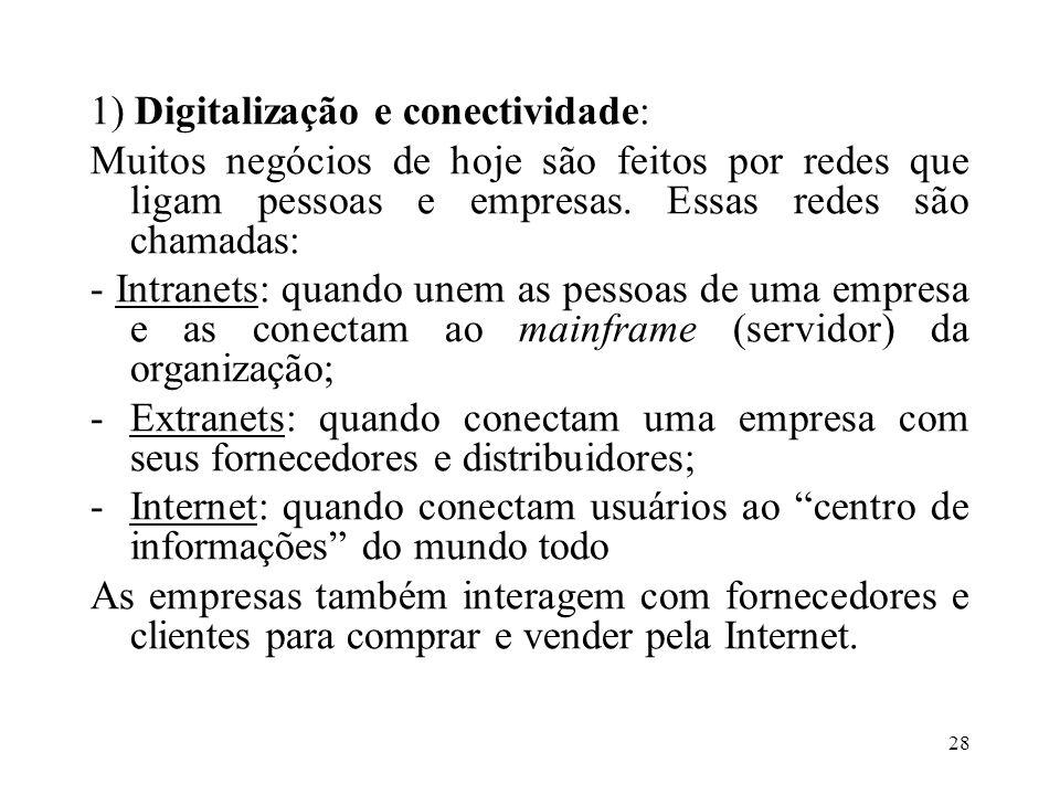 1) Digitalização e conectividade: