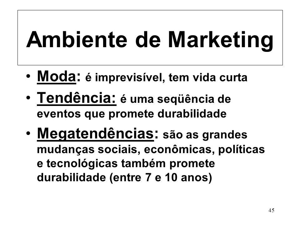 Ambiente de Marketing Moda: é imprevisível, tem vida curta