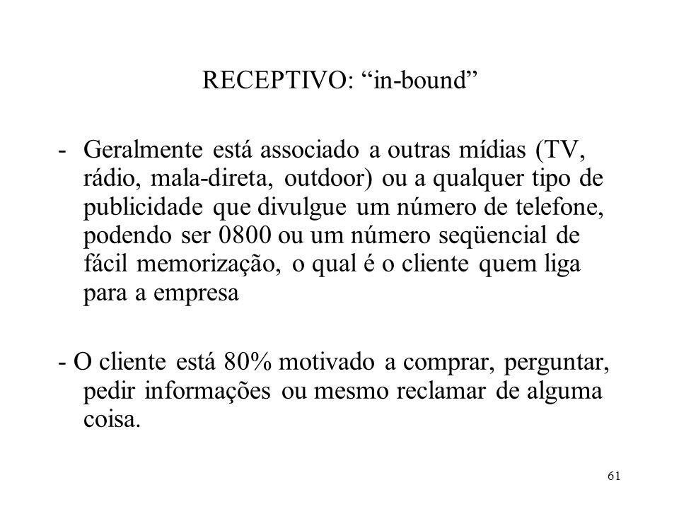 RECEPTIVO: in-bound