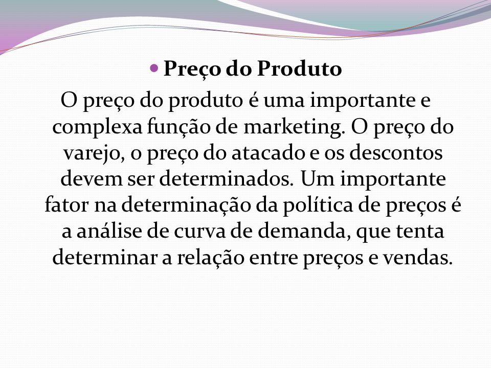 Preço do Produto