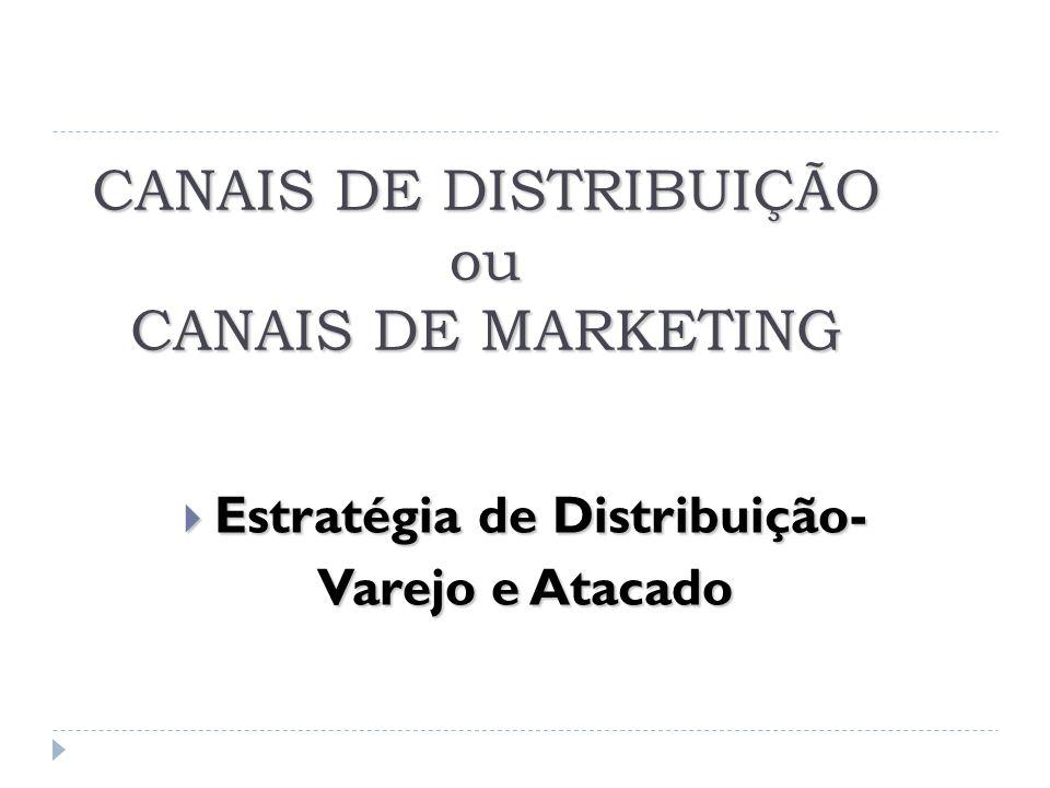 CANAIS DE DISTRIBUIÇÃO ou CANAIS DE MARKETING