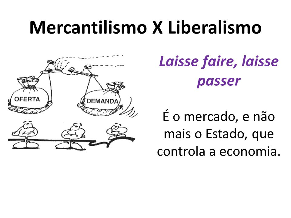Mercantilismo X Liberalismo