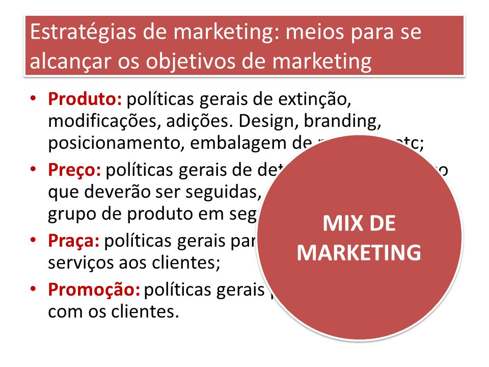 Estratégias de marketing: meios para se alcançar os objetivos de marketing