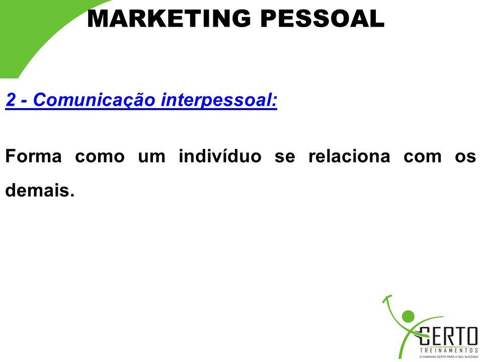 MARKETING PESSOAL 2 - Comunicação interpessoal: