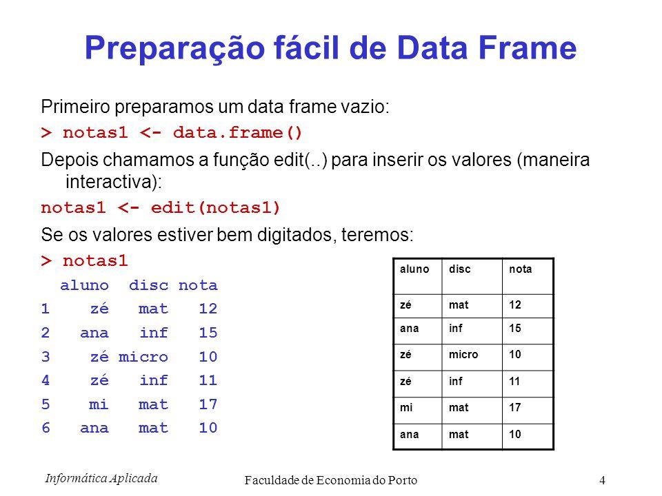 Preparação fácil de Data Frame
