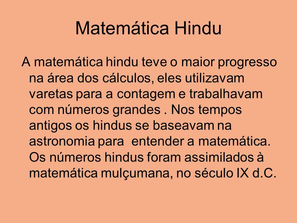 Matemática Hindu