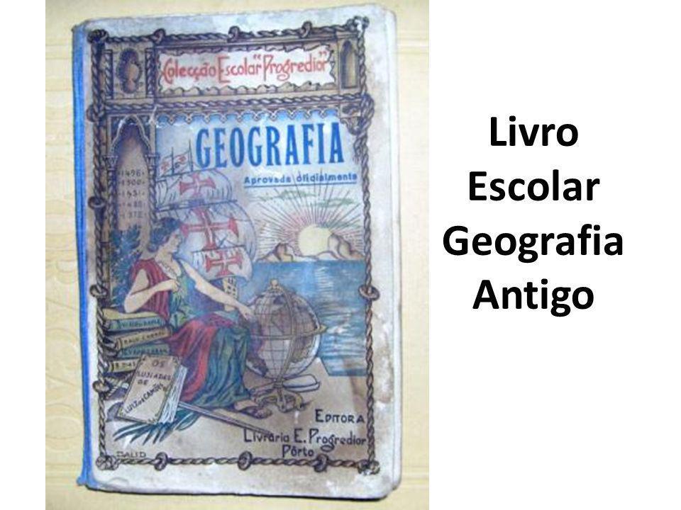 Livro Escolar Geografia Antigo