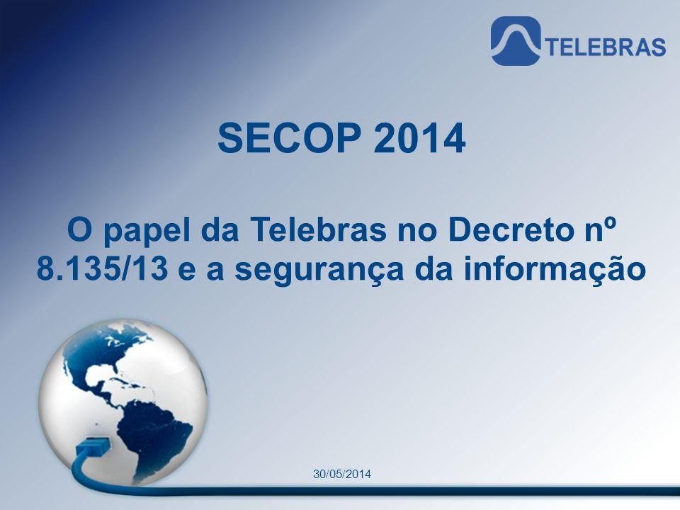 O papel da Telebras no Decreto nº 8.135/13 e a segurança da informação