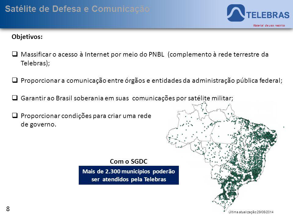 Mais de 2.300 municípios poderão ser atendidos pela Telebras