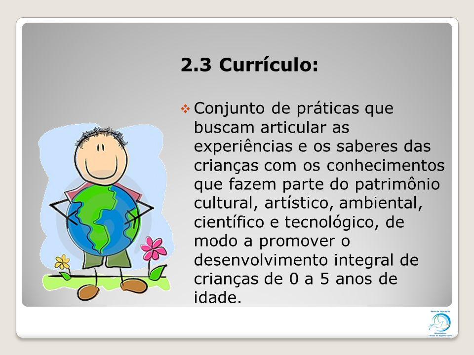 2.3 Currículo: