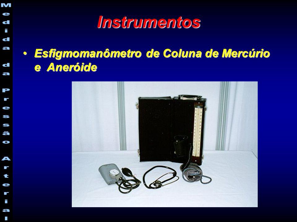 Instrumentos Esfigmomanômetro de Coluna de Mercúrio e Aneróide