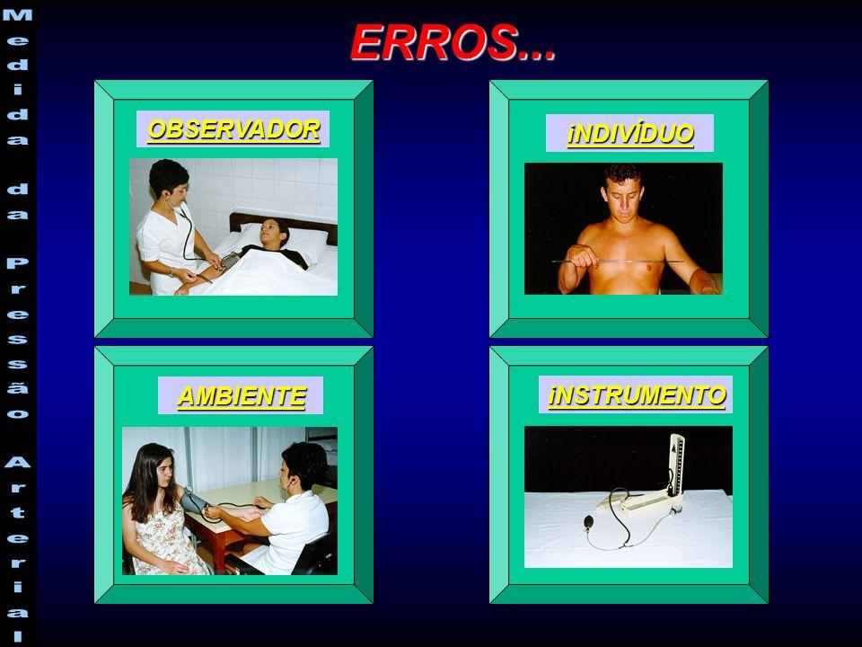 ERROS... OBSERVADOR iNDIVÍDUO AMBIENTE iNSTRUMENTO