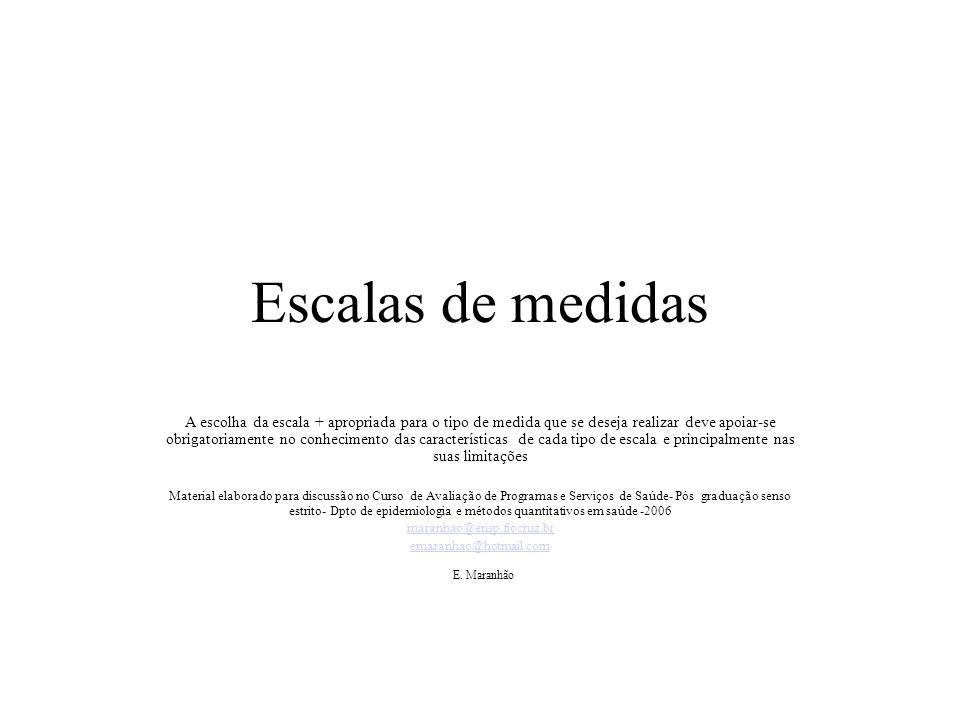 Escalas de medidas E. Maranhão