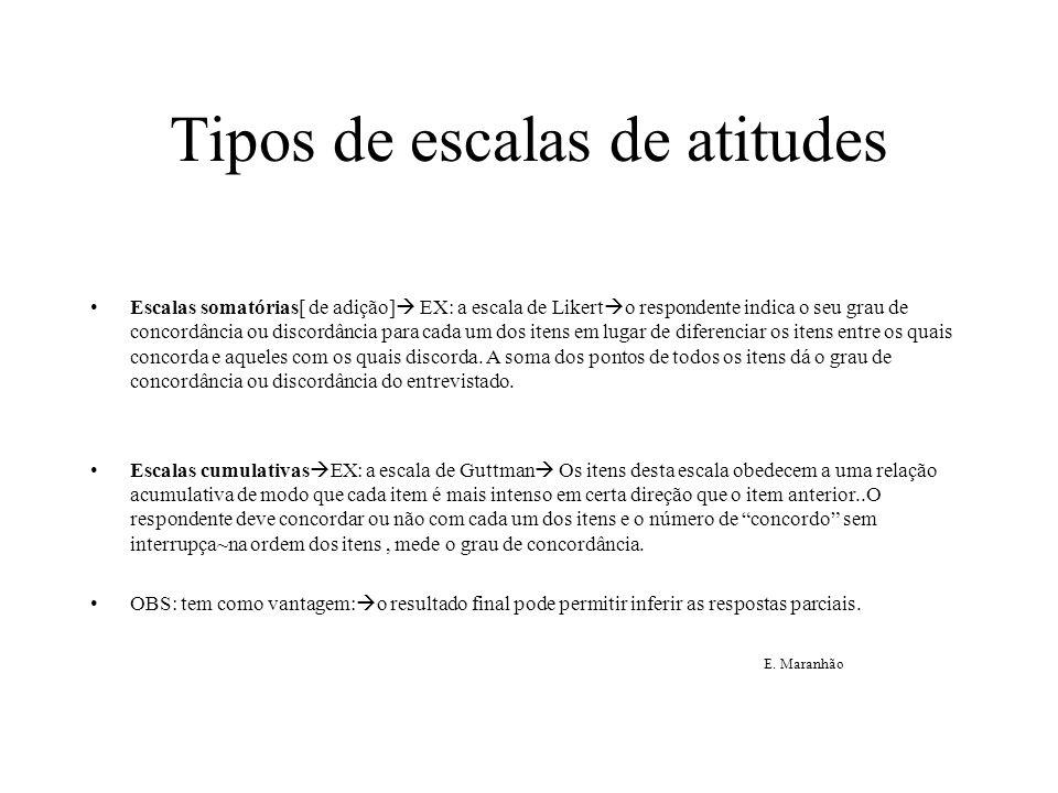 Tipos de escalas de atitudes