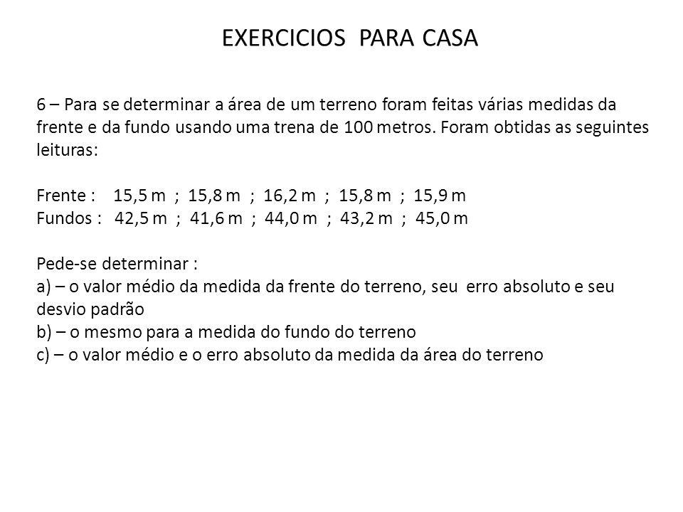EXERCICIOS PARA CASA