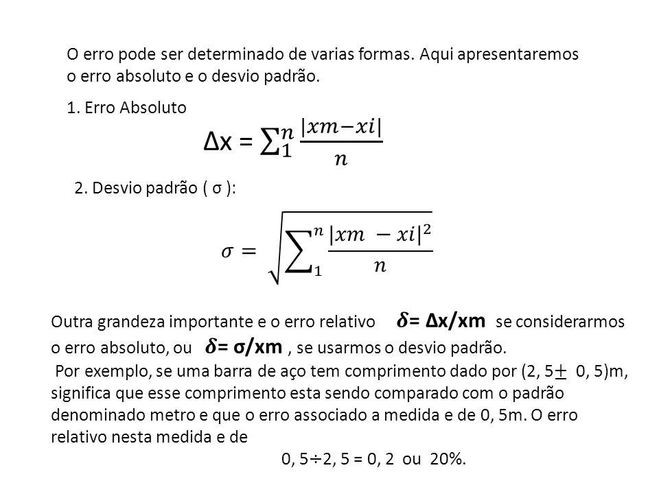 Δx = 1 𝑛 |𝑥𝑚−𝑥𝑖| 𝑛 𝜎= 1 𝑛 |𝑥𝑚 −𝑥𝑖| 2 𝑛
