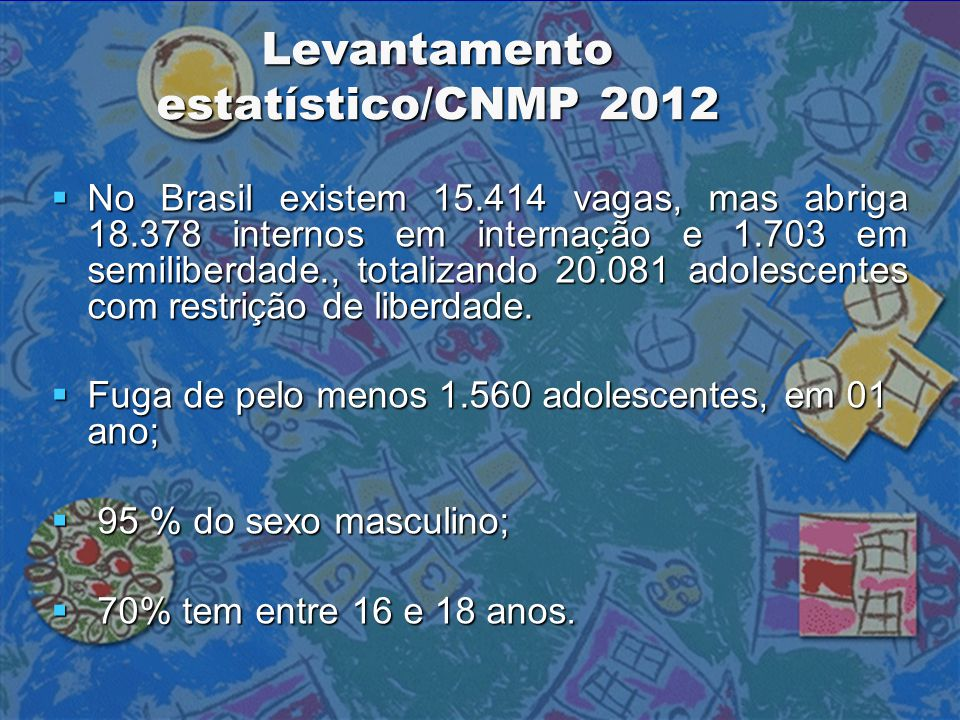 Levantamento estatístico/CNMP 2012